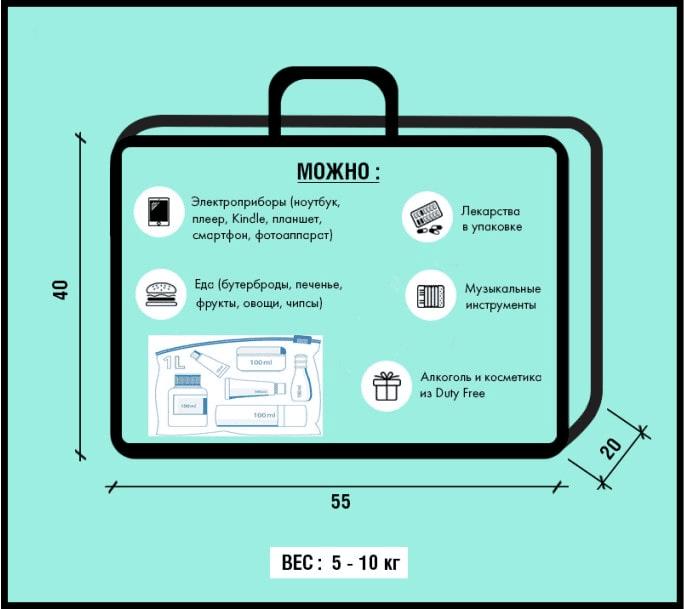 pravila provoza bagazha i ruchnoj kladi v samolete