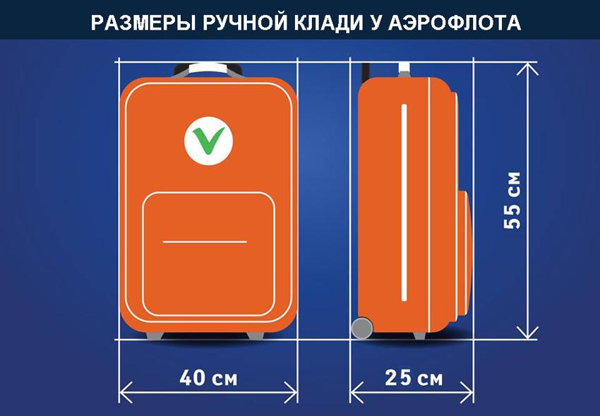 aeroflot bagazh i ruchnaya klad