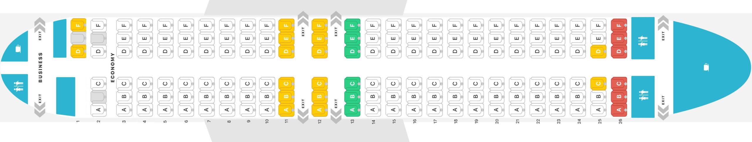 boing 737 400 shema salona 1